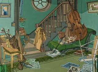 Concepts from 101 Dalmatians (1961) Background Paintings - in Murder At Malone Manor inspiration post by Matt McDyre