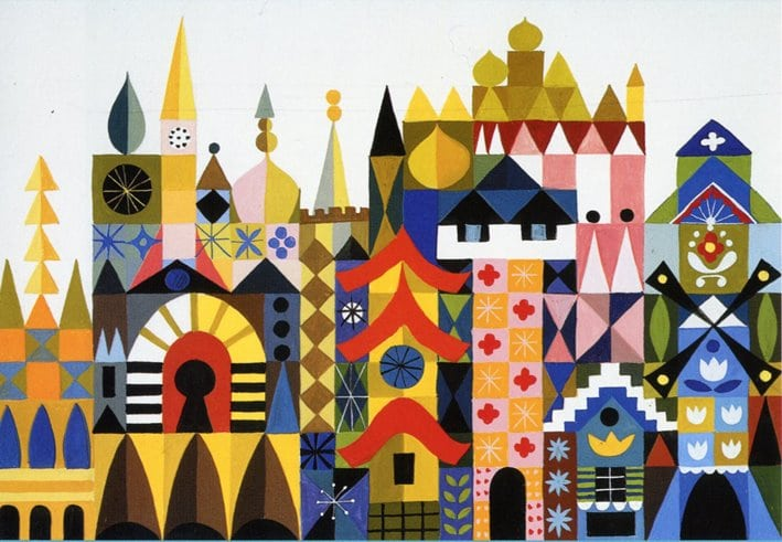 """Concept for """"It's a Small World"""" by Mary Blair - in Murder At Malone Manor inspiration post by Matt McDyre"""