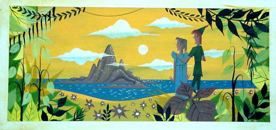 Concepts from Peter Pan by Mary Blair - in Murder At Malone Manor inspiration post by Matt McDyre